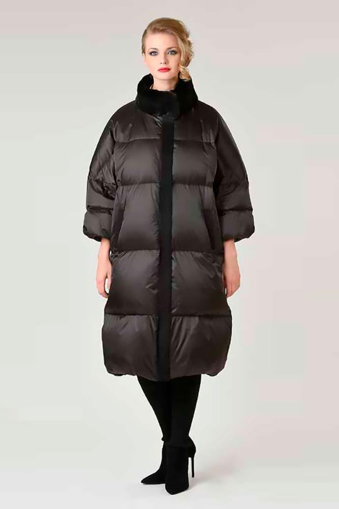 Пуховое пальто оверсайз