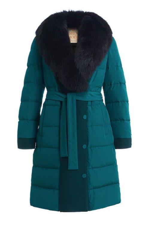 Пуховик женский Florence Mode зеленый