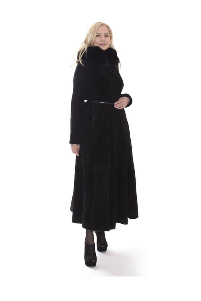Пальто женское из астрагана ADAMO