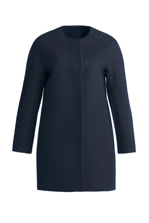 Черное пальто женское