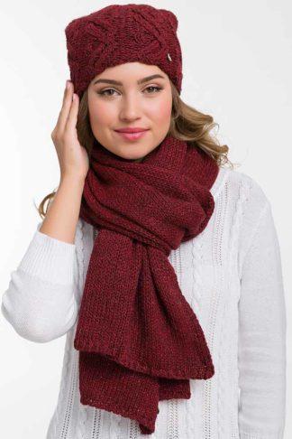 Вязаный комплект шапка с шарфом
