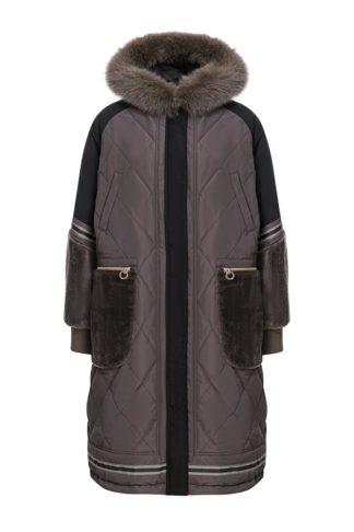 Итальянское пальто с мехом