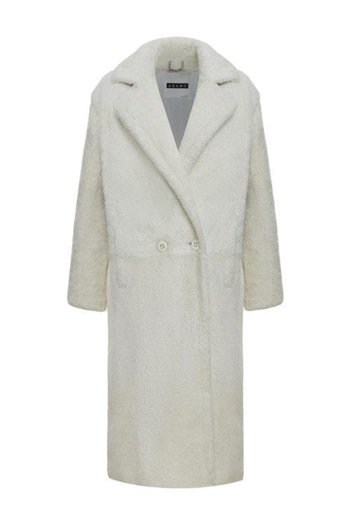 Пальто зимнее белое