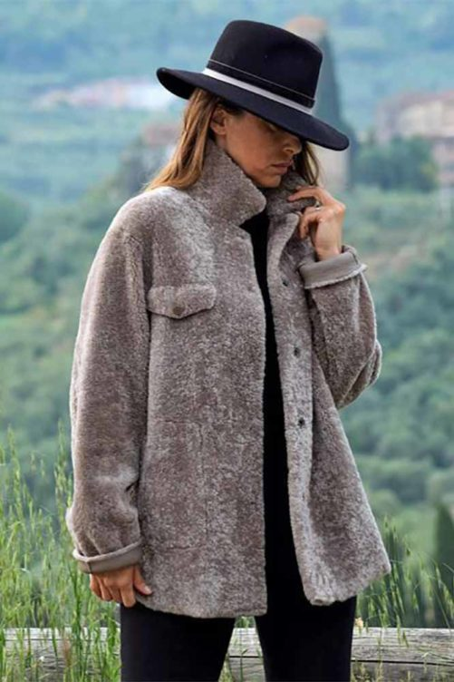 Куртка из овчины кёрли