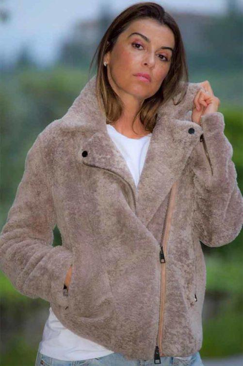 Куртка косуха из овчины кёрли