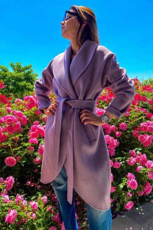 Пальто с запахом ADRIANO BARONI