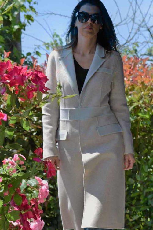 Однобортное пальто ADRIANO BARONI