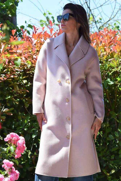 Розовое пальто ADRIANO BARONI