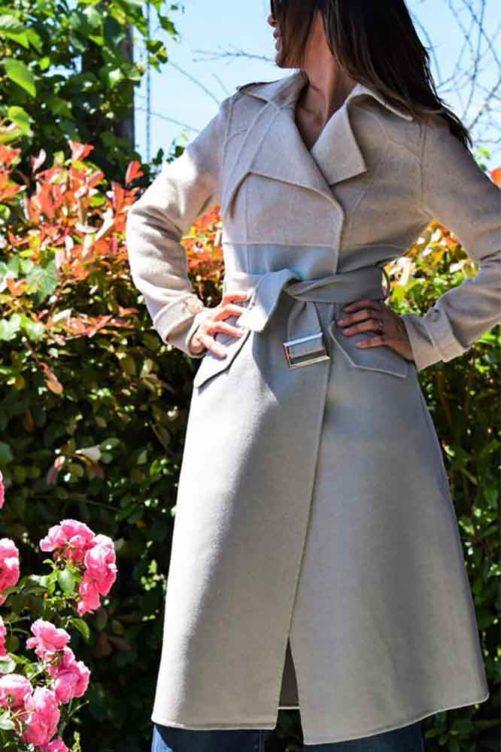 Комбинированное пальто ADRIANO BARONI