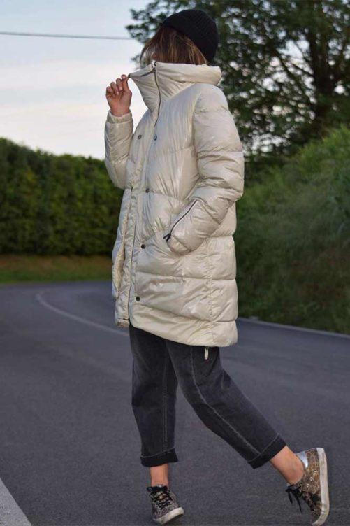 Белая куртка на пуху ADRIANO BARONI
