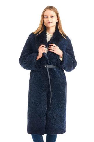 Длинное женское пальто ADAMO из астрагана